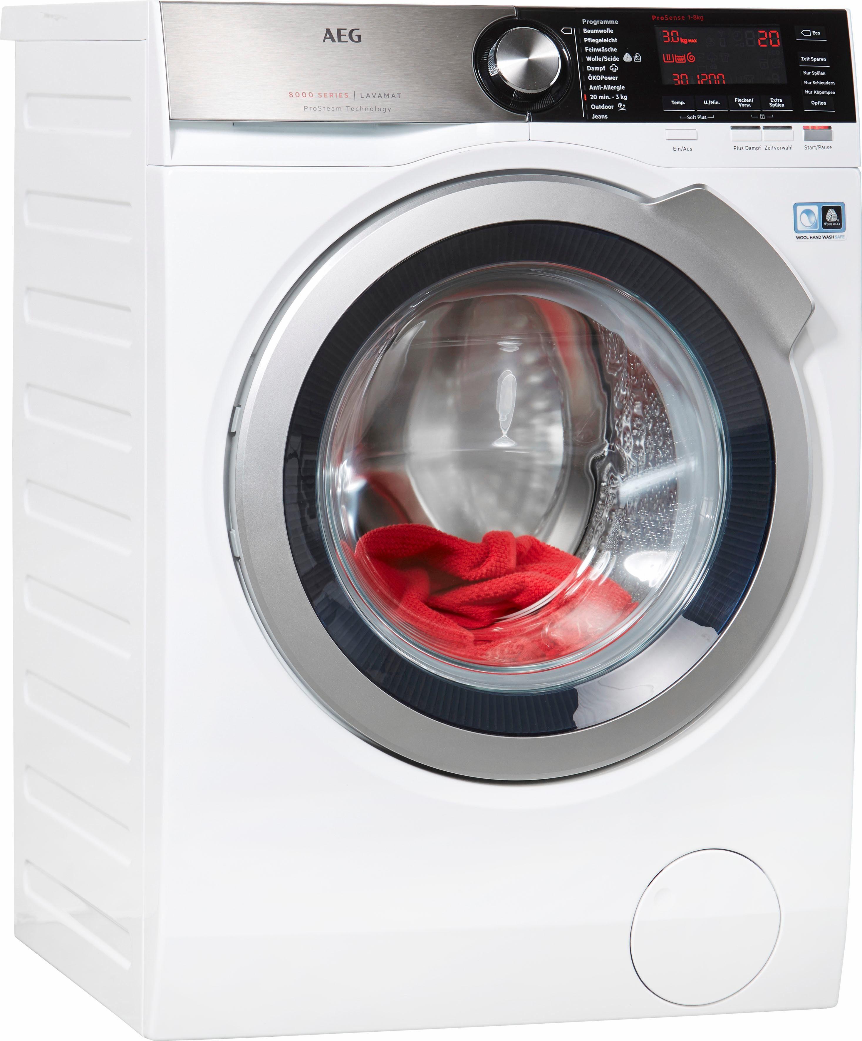 AEG Waschmaschine LAVAMAT L8FE86484, A+++, 8 kg, 1400 U/Min