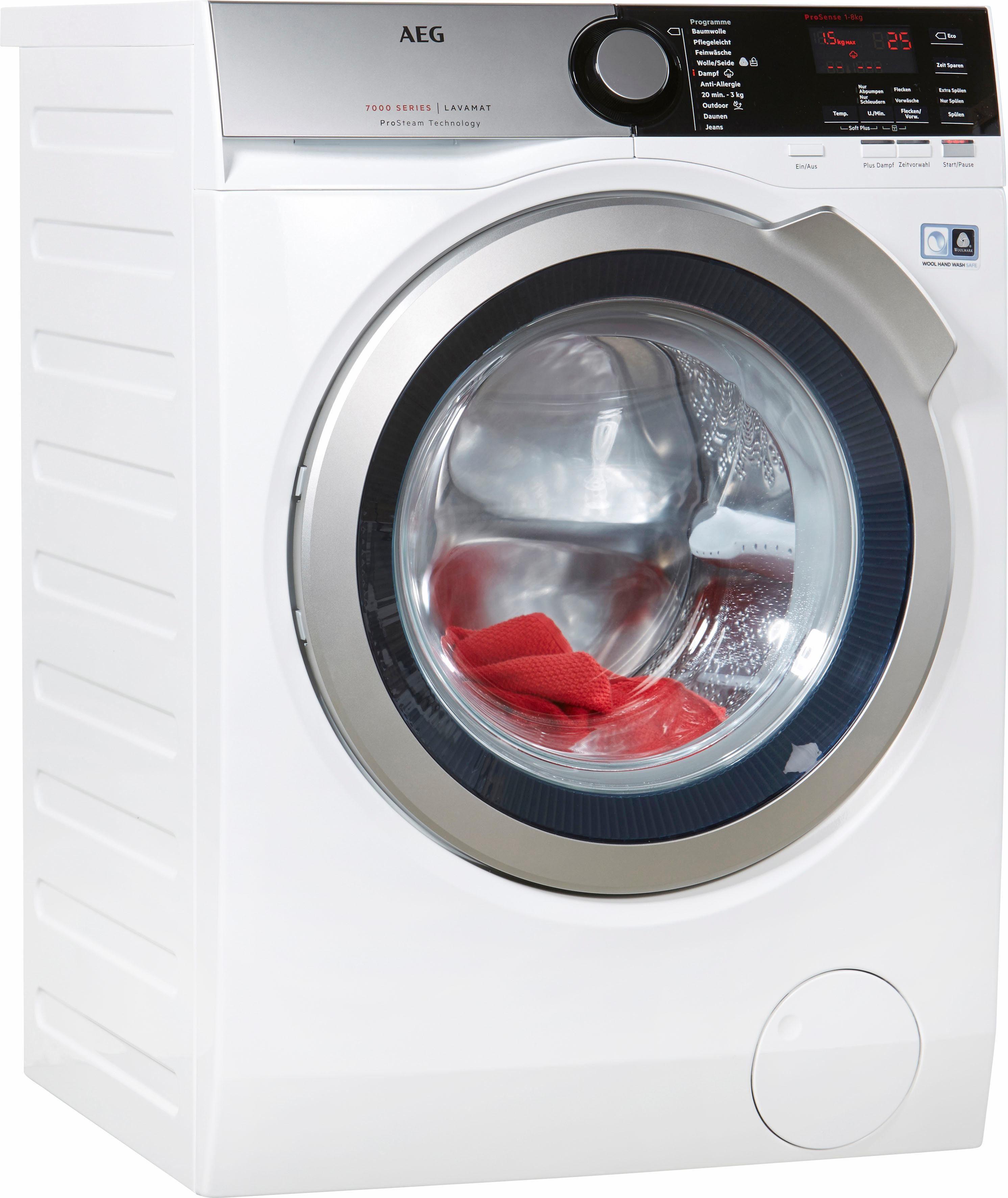 AEG Waschmaschine LAVAMAT L7FE76484, 8 kg, 1400 U/Min, ProSense®
