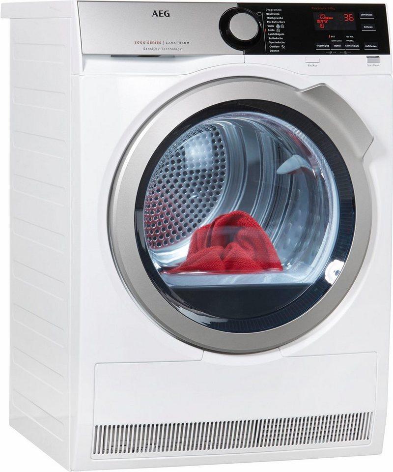 AEG Trockner Lavatherm T8DE76585, A++, 8 kg in weiß