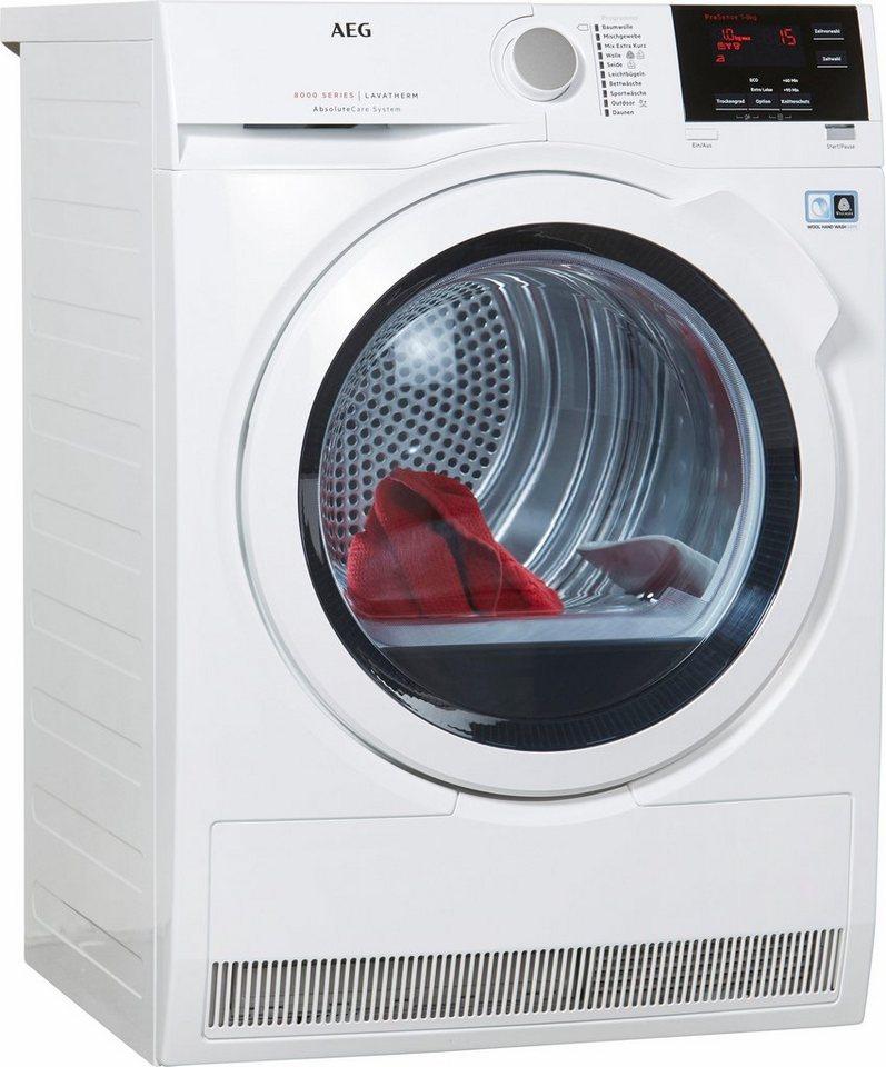 AEG Trockner Lavatherm T8DB66580, A++, 8 kg in weiß