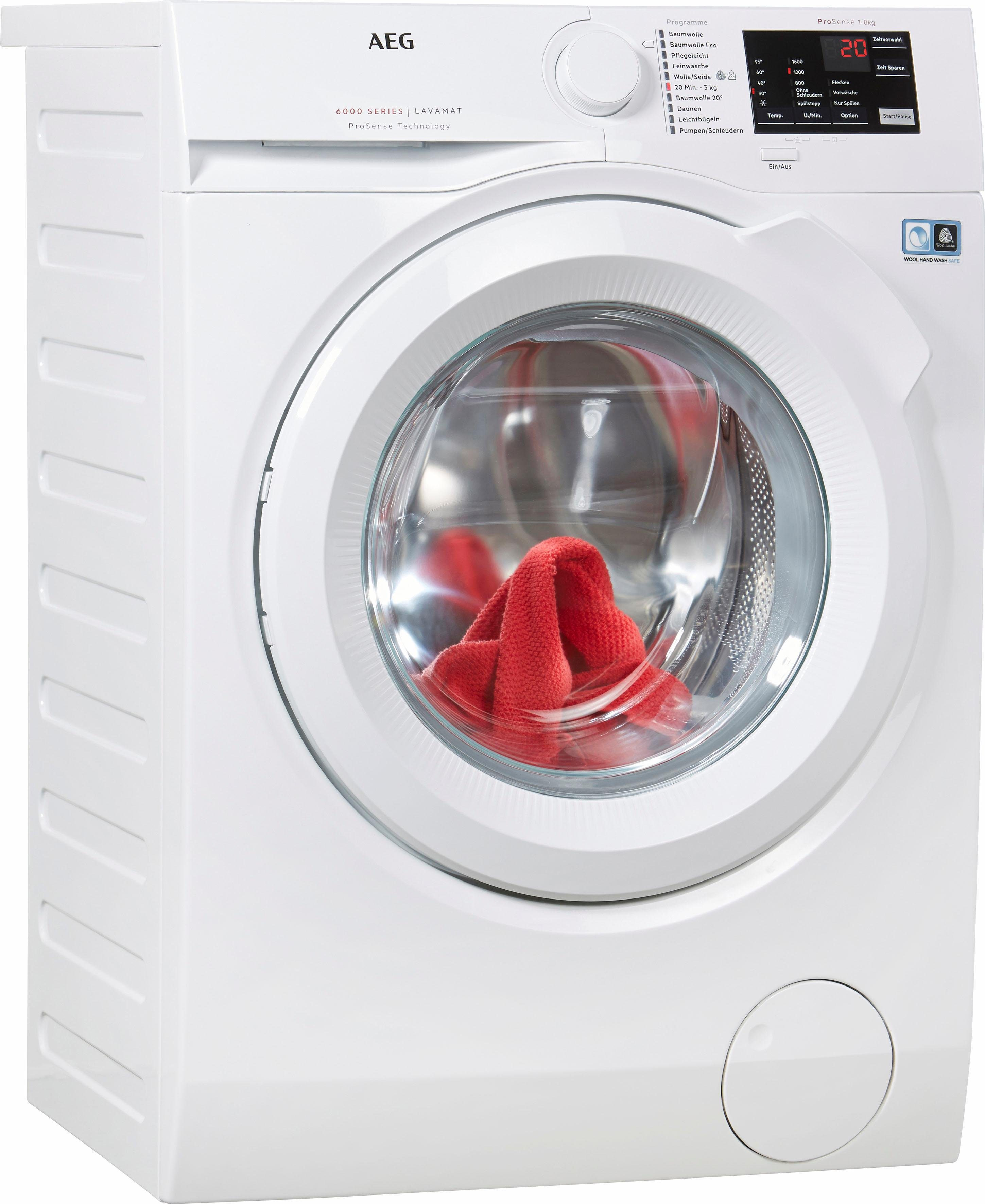 AEG Waschmaschine LAVAMAT L6FB54680, A+++, 8 kg, 1600 U/Min