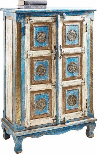 home affaire highboard h he 120 cm mit aufwendiger schnitzerei online kaufen otto. Black Bedroom Furniture Sets. Home Design Ideas