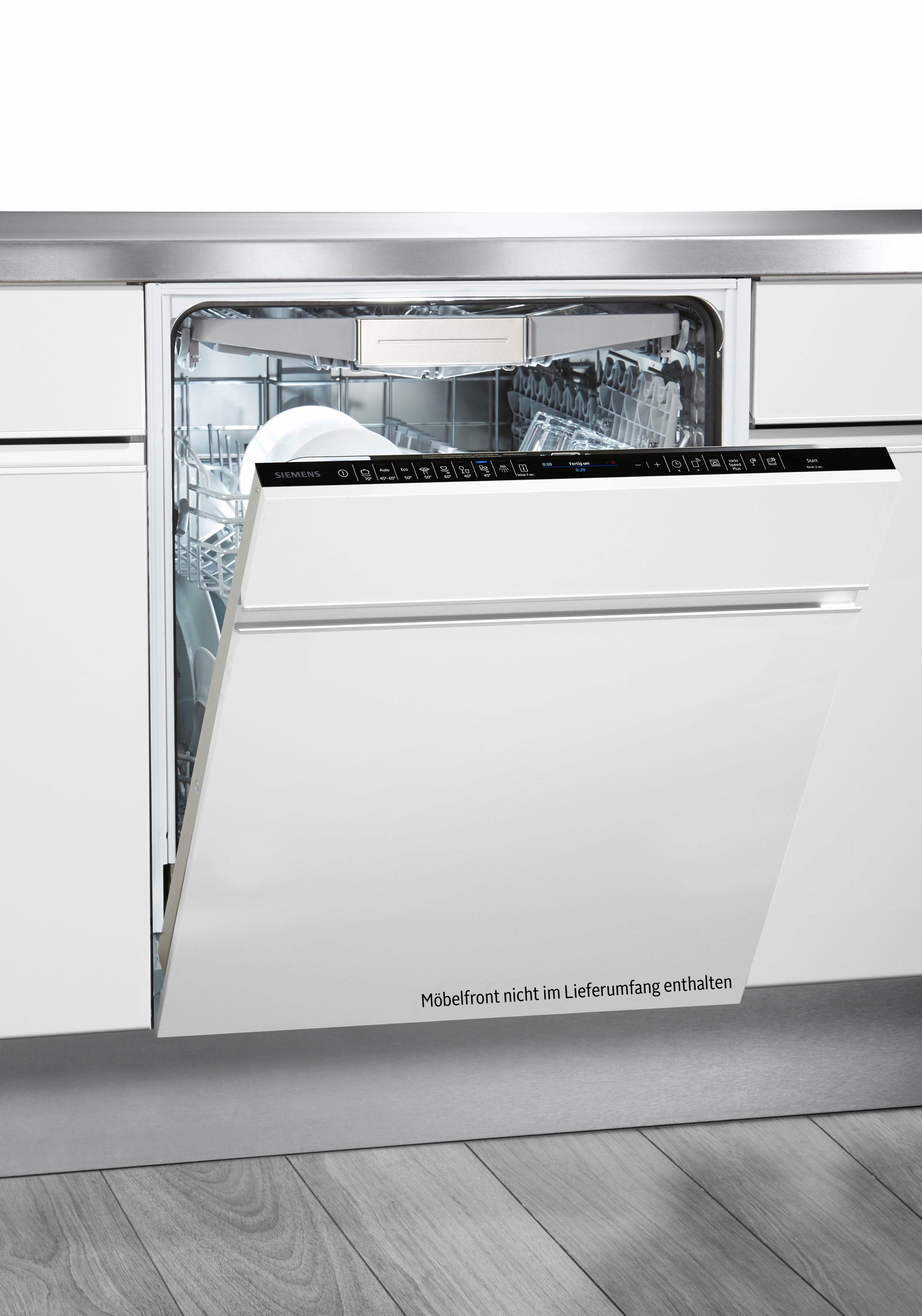 SIEMENS Vollintegrierbarer Einbaugeschirrspüler iQ500 SX658X06TE, A+++, 9,5 Liter, 14 Maßgedecke
