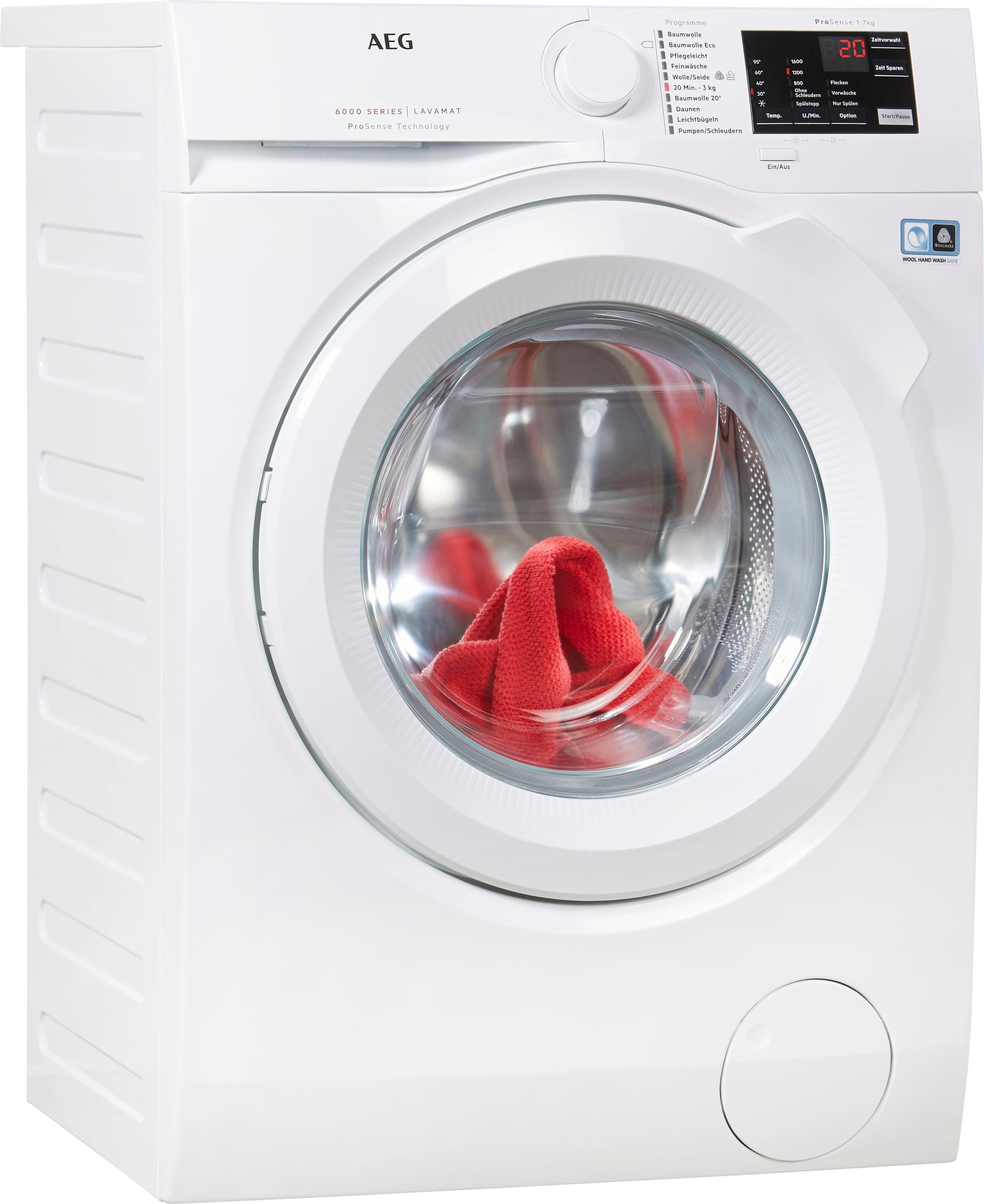 AEG Waschmaschine LAVAMAT L6FB54670, A+++, 7 kg, 1600 U/Min