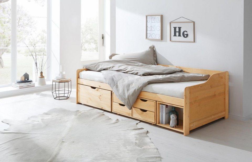 Home affaire Multimediabett »Nils«, mit 5 Schubladen und einem Fach,  Liegefläche: 90/200 online kaufen | OTTO
