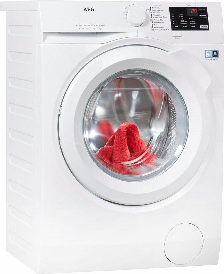 AEG Waschmaschine LAVAMAT L6FB54470, A+++, 7 kg, 1400 U/Min in weiß