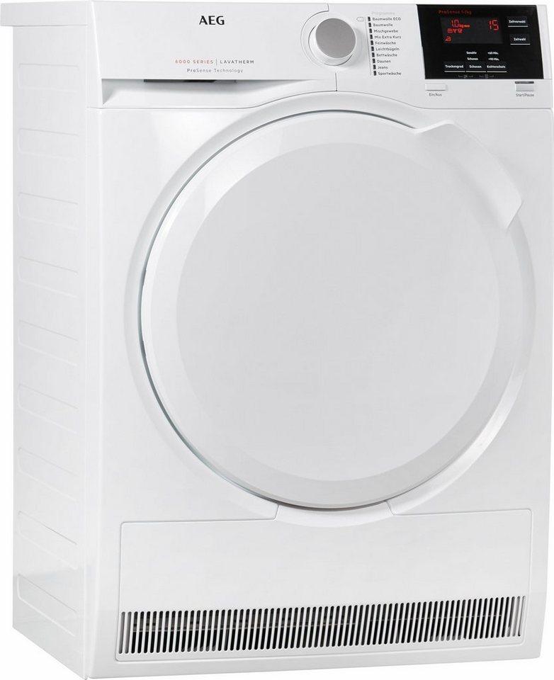 AEG Trockner Lavatherm T6DB60375, B, 7 kg in weiß
