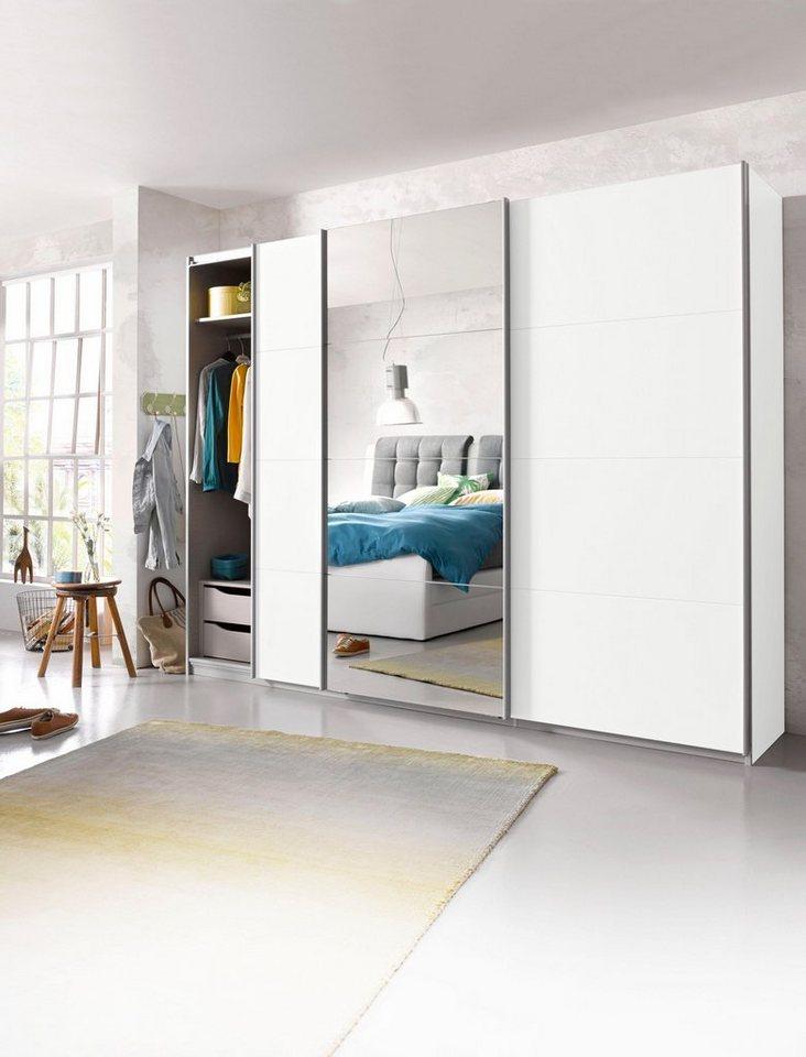 Schlafzimmerschrank schiebetür weiß  Schwebetürenschrank »Dobene«, inkl. Schubkasteneinsatz und ...