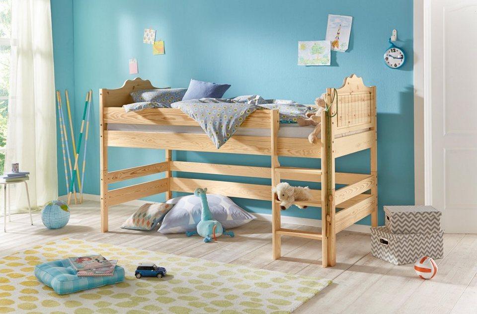 bio massivholz hochbett silenta online kaufen otto. Black Bedroom Furniture Sets. Home Design Ideas