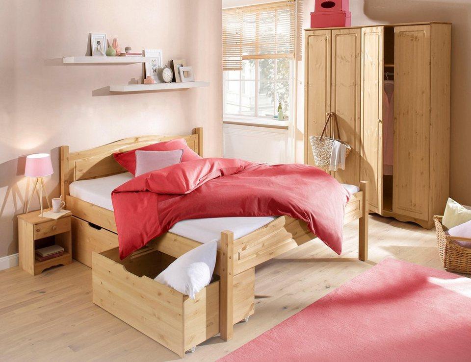 Home affaire Schlafzimmer-Set »Emden« (4-tlg.) in gelaugt/geölt