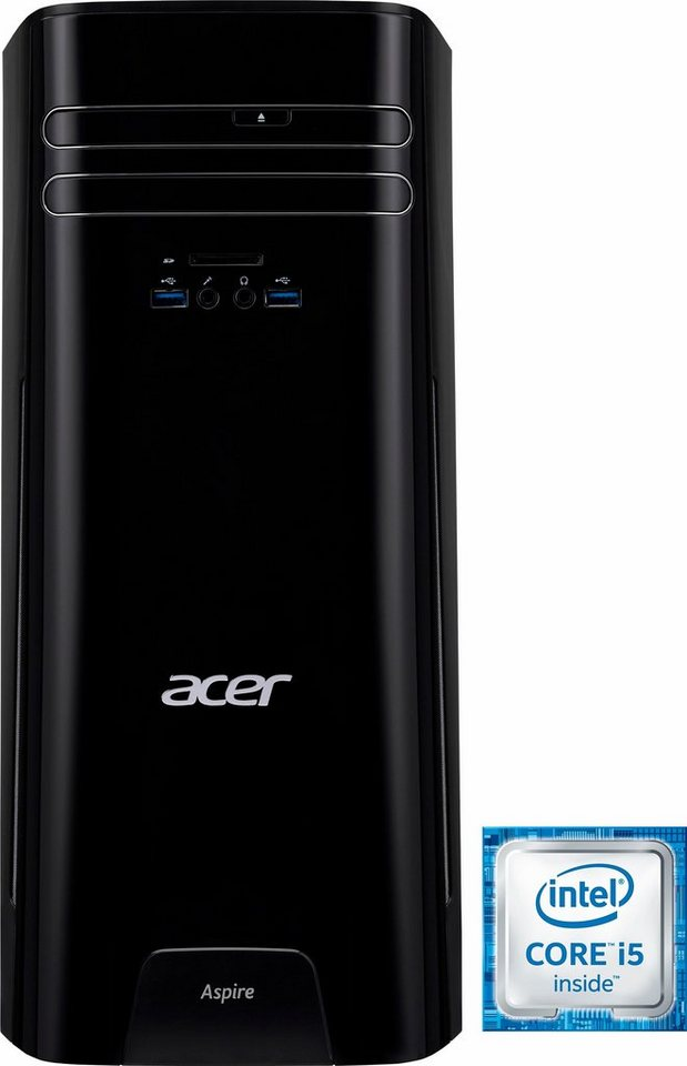 Acer Aspire TC-780 PC, Intel® Core™ i5, 8192 MB DDR4, 2128 GB Speicher, NVIDIA Geforce GTX745 in schwarz