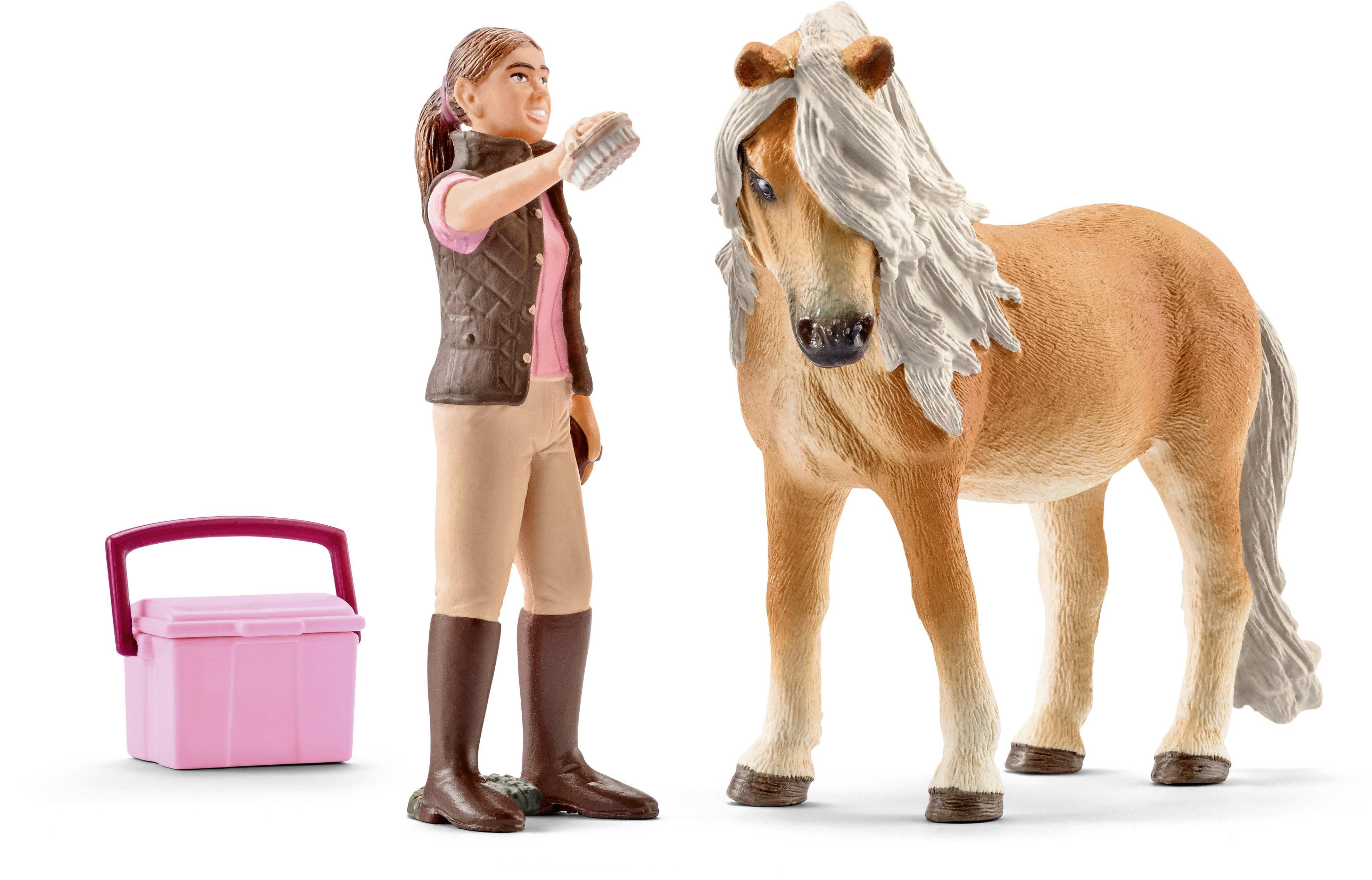 Schleich® Spielfigur (41431), »Horse Club, Pferdepflegerin mit Island Pony Stute«