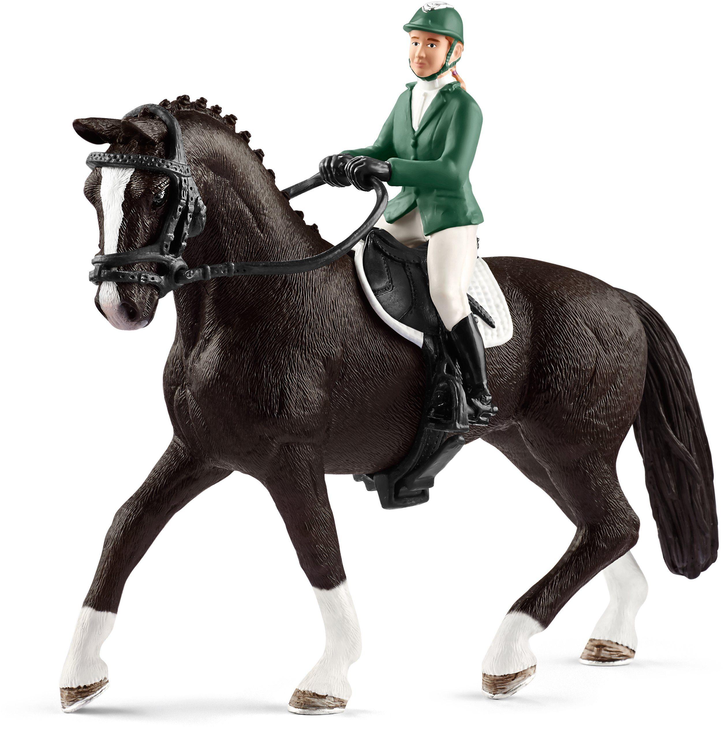 Schleich® Spielfiguren (42358), »Horse Club, Springreiterin mit Pferd«