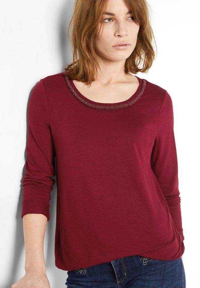 Street One Shirt mit Perlenkante Jakoba in vintage red