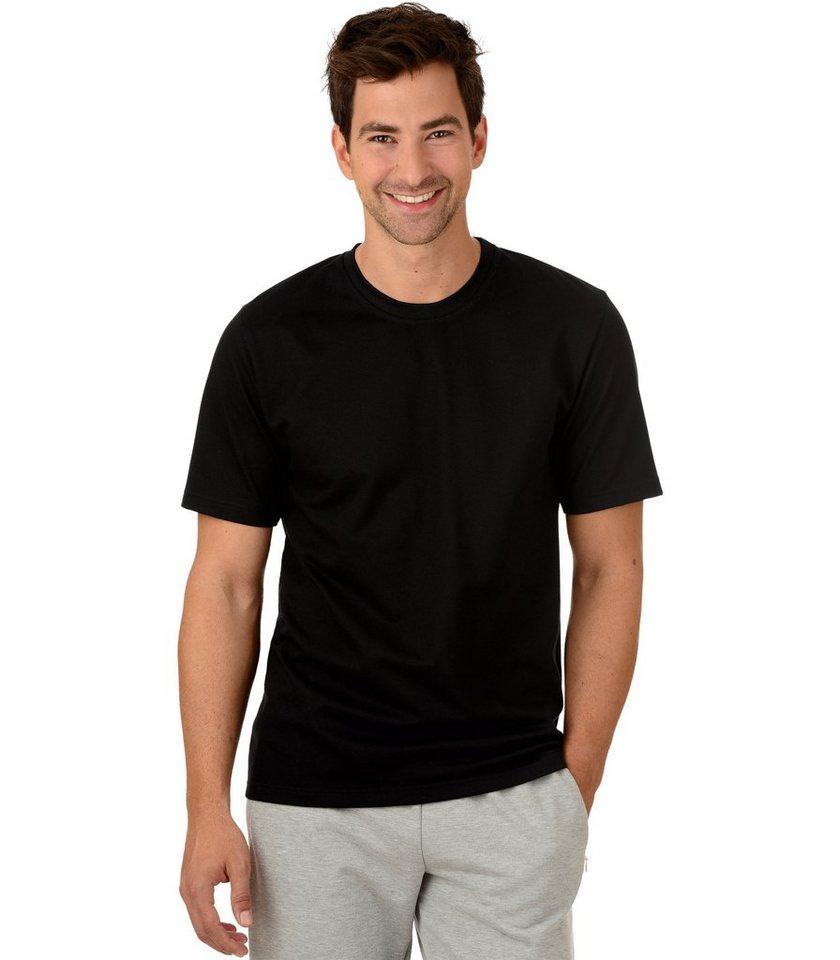 TRIGEMA T-Shirt Piqué-Qualität in schwarz