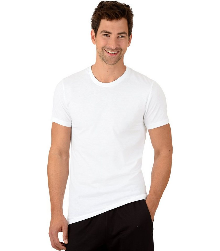 TRIGEMA T-Shirt - Slim Fit in weiss