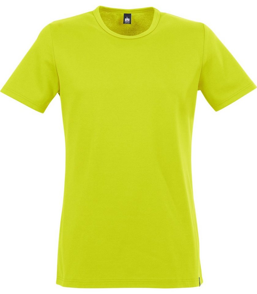 TRIGEMA T-Shirt Baumwolle/Elastan in lemon