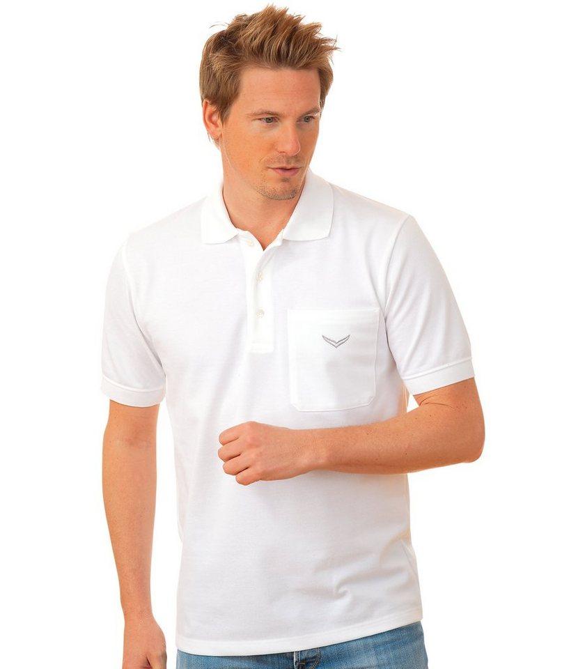 TRIGEMA Polo-Shirt mit Brusttasche in weiss