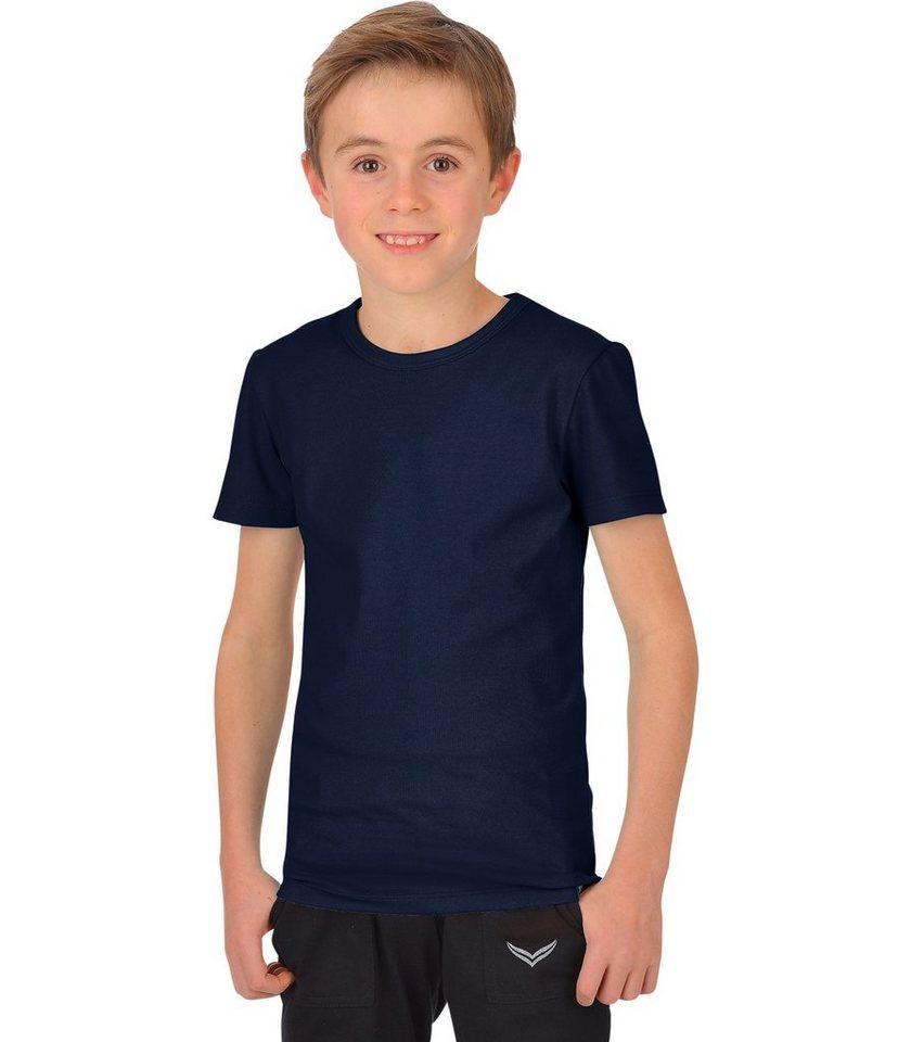 TRIGEMA T-Shirt Baumwolle/Elastan in navy