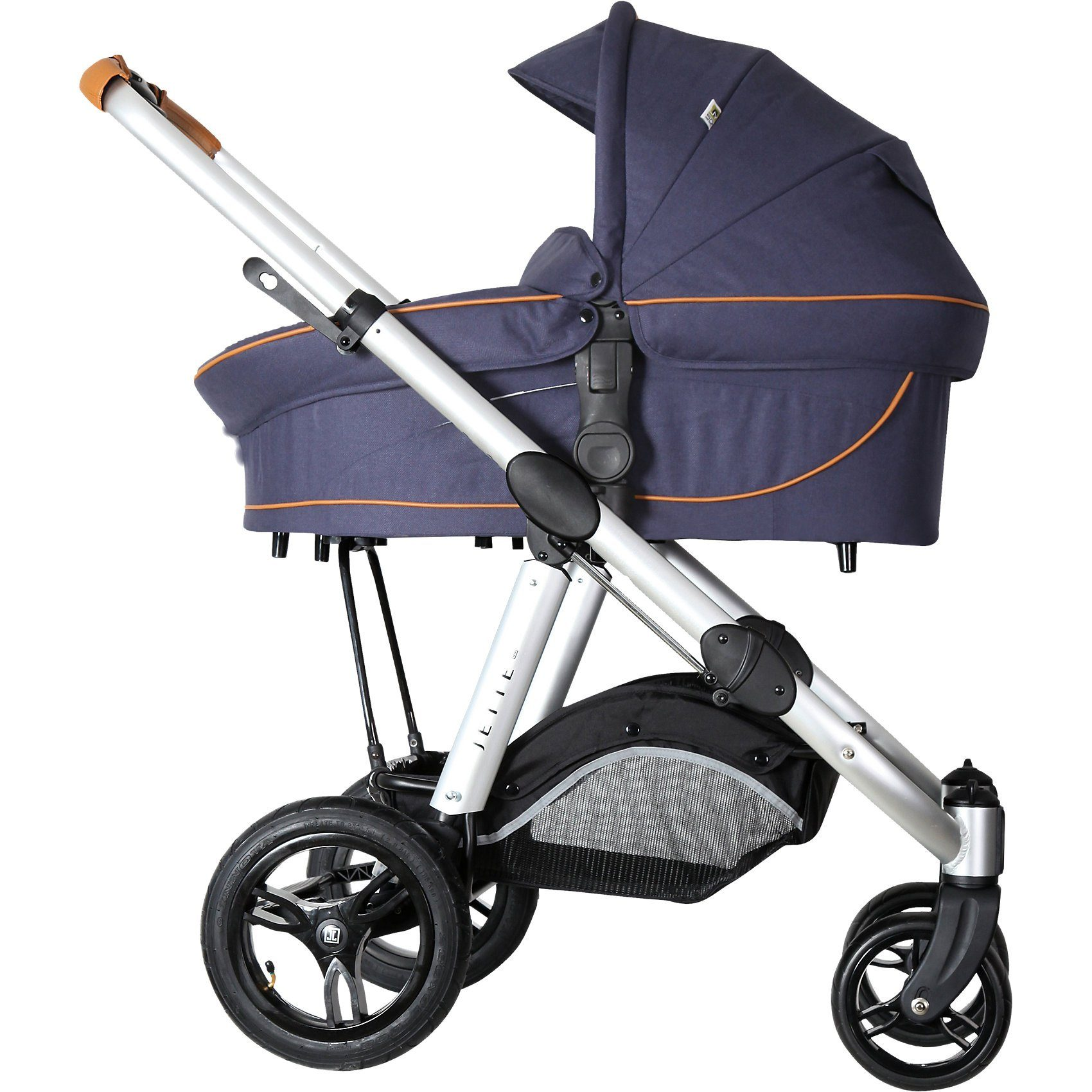 Jette Kinderwagen Kombi Kinderwagen JOEL AIR, fishbone navy