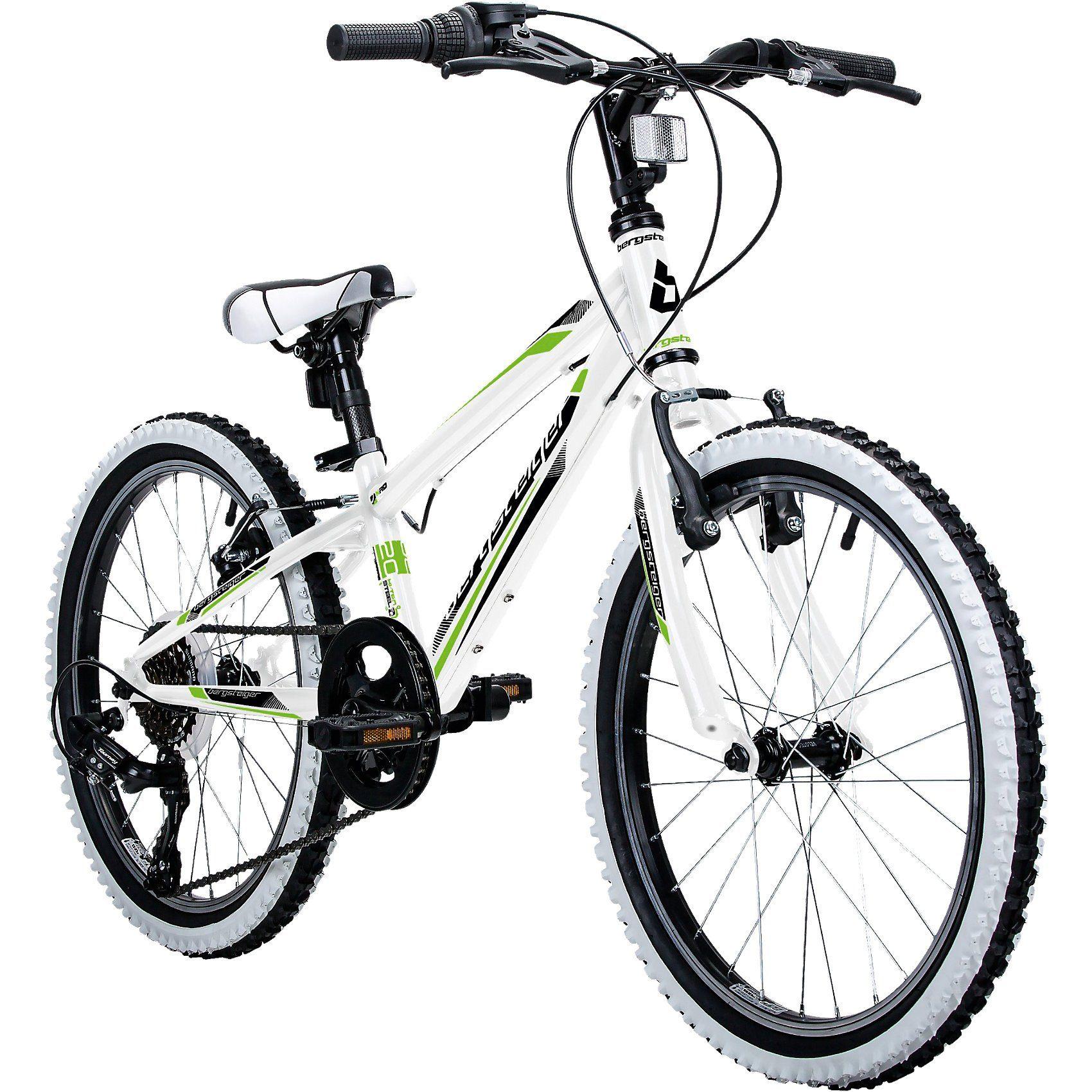 Bergsteiger Fahrrad Jugendfahrrad Mountainbike Kansas 20 Zoll, weiß
