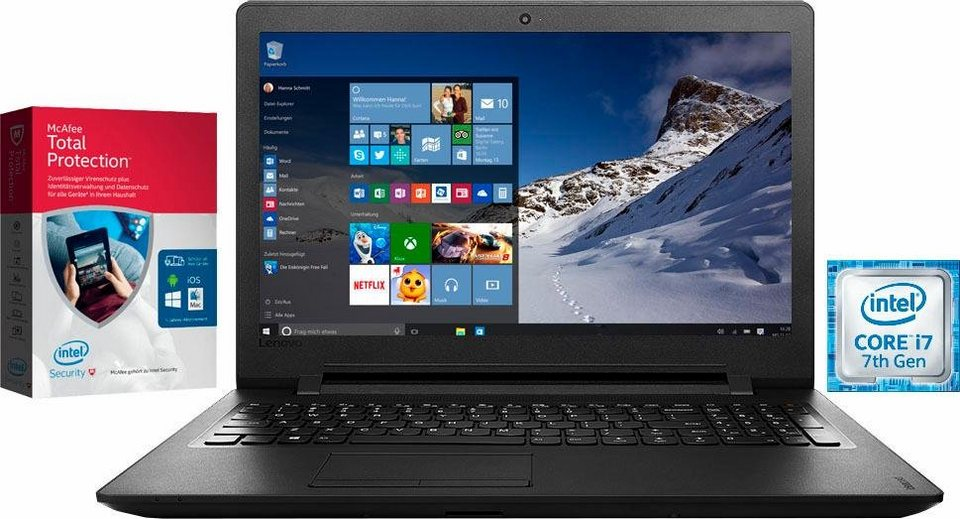 Lenovo IdeaPad 110-17IKB Notebook, Intel® Core™ i7, 43,9 cm (17,3 Zoll), 1000 GB Speicher in schwarz