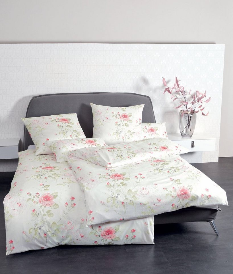 bettw sche janine rose mit zarten rosen motiven online kaufen otto. Black Bedroom Furniture Sets. Home Design Ideas