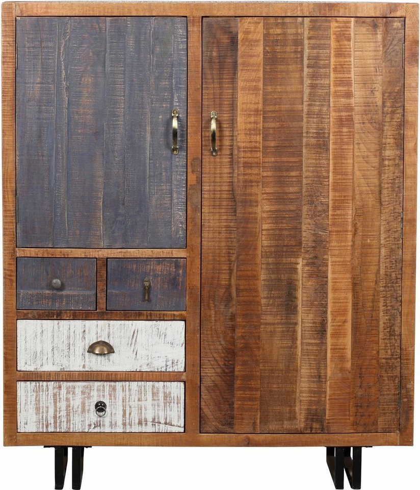 the wood times kommode new rustic mit 2 t ren und 3 schubladen ideal f r kleine r ume online. Black Bedroom Furniture Sets. Home Design Ideas