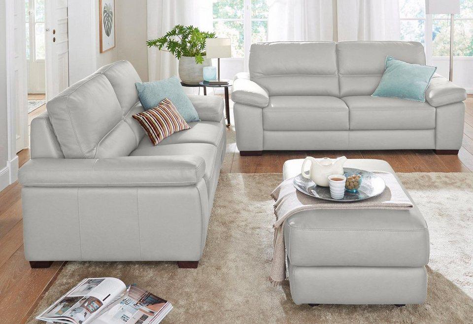 calia italia ledersofa garnitur gaia bestehend aus 2 sitzer und 3 sitzer online kaufen otto. Black Bedroom Furniture Sets. Home Design Ideas