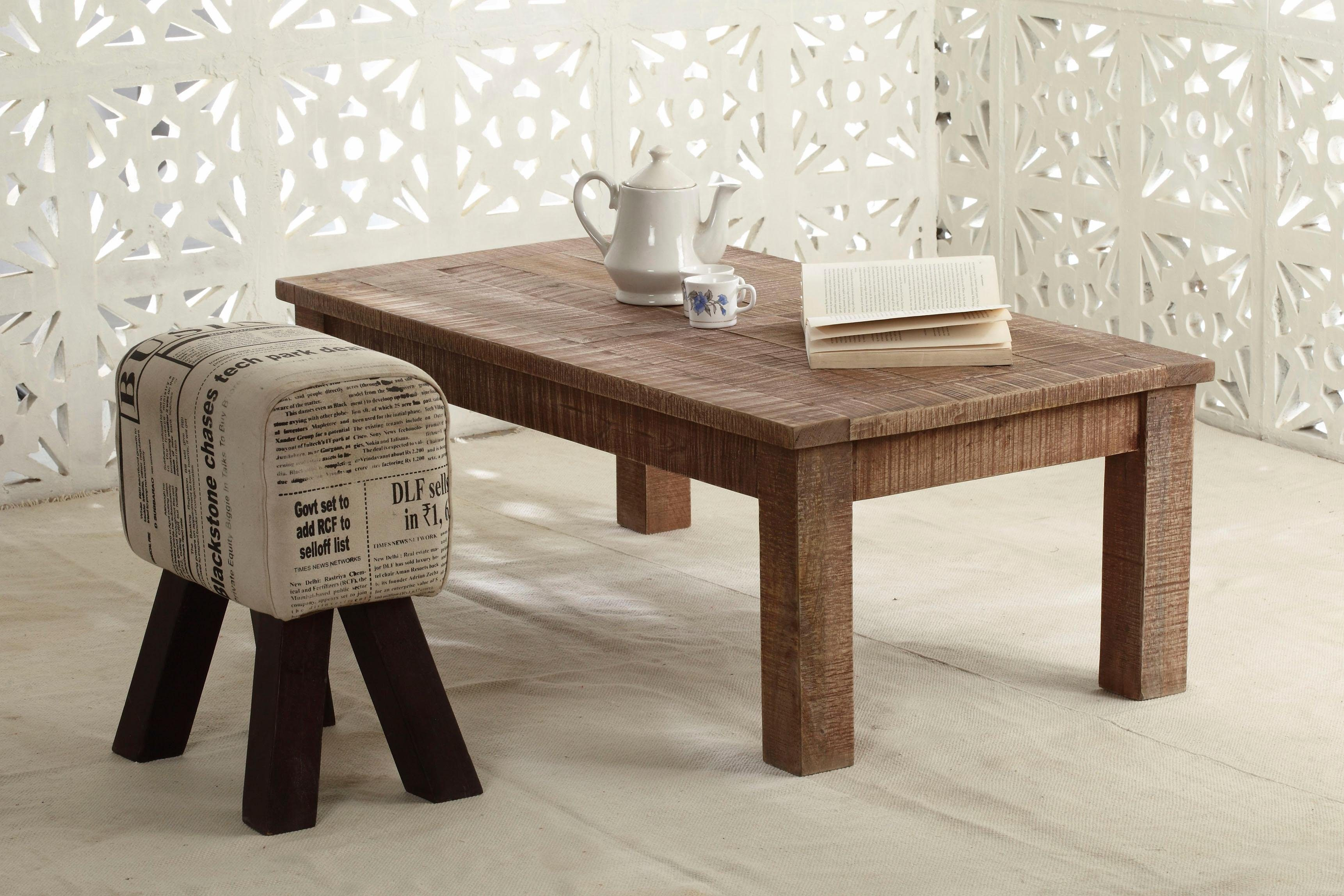 The Wood Times Couchtisch «New Rustic», Breite 115 cm