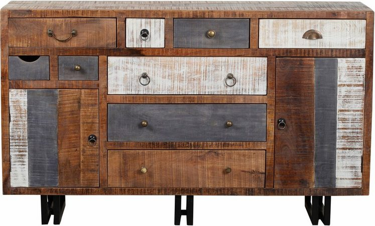 the wood times sideboard new rustic mit 9 schubladen online kaufen otto. Black Bedroom Furniture Sets. Home Design Ideas