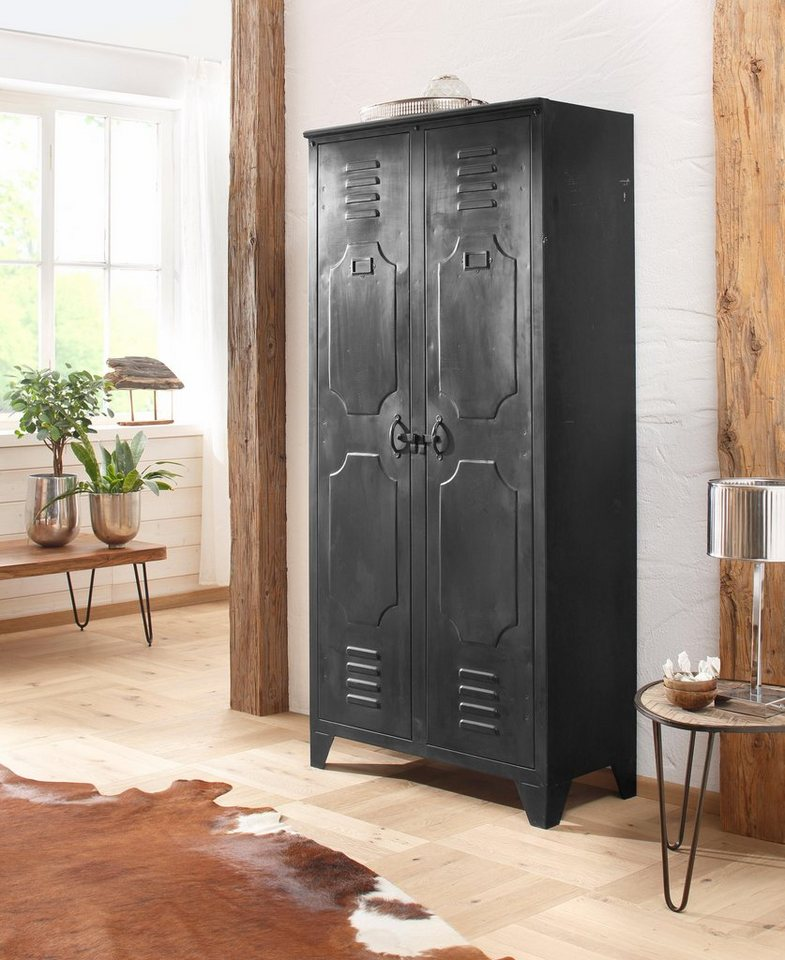 home affaire schrank chandan komplett aus metall breite 86 cm online kaufen otto. Black Bedroom Furniture Sets. Home Design Ideas