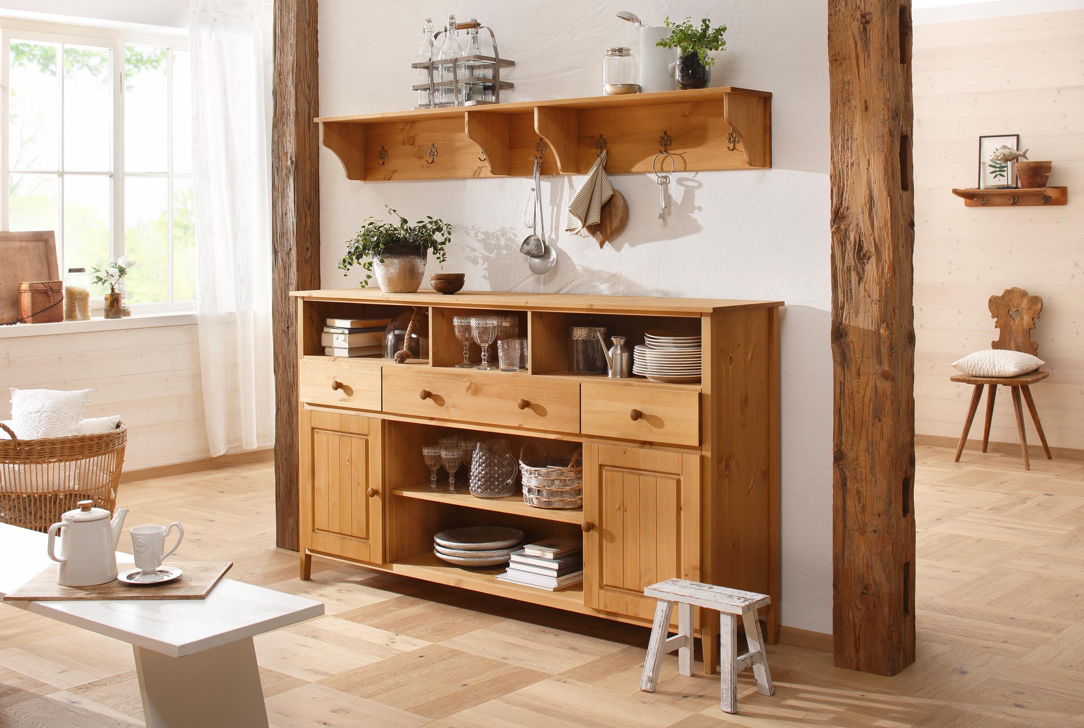 Home affaire Sideboard »Anneke« in 2 Größen und 2 Farben