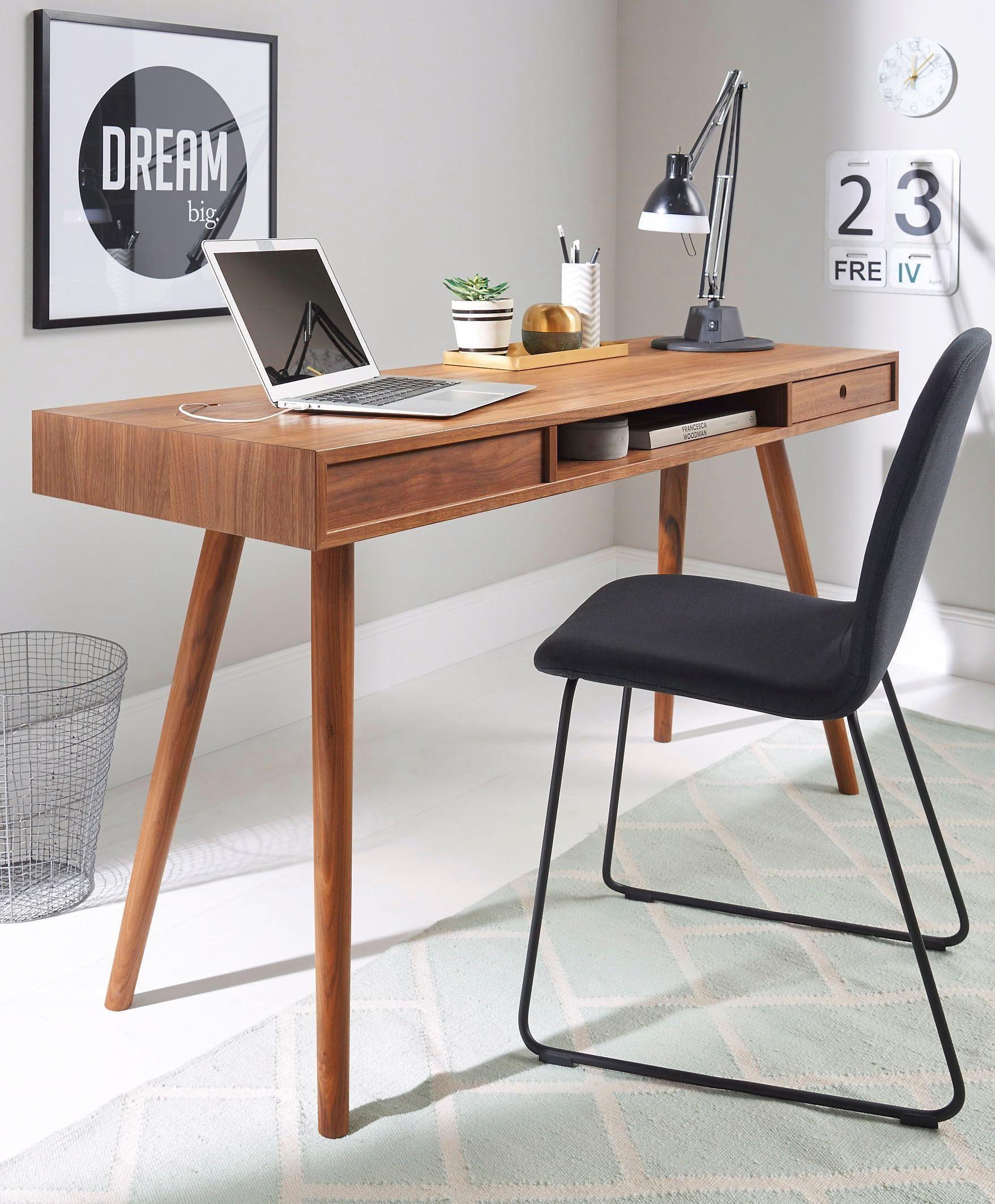 andas Schreibtisch »Classic«, Nordic Design in walnut