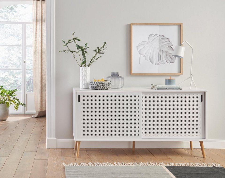 andas sideboard scala breite 158 cm mit schiebet ren und lackierter topplatte online kaufen. Black Bedroom Furniture Sets. Home Design Ideas