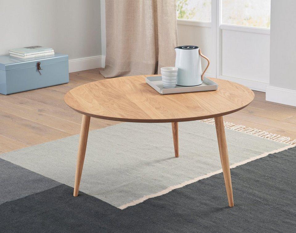 Andas Couchtisch «Voa», Mit Runder Tischplatte, Im Skandinavischen Design