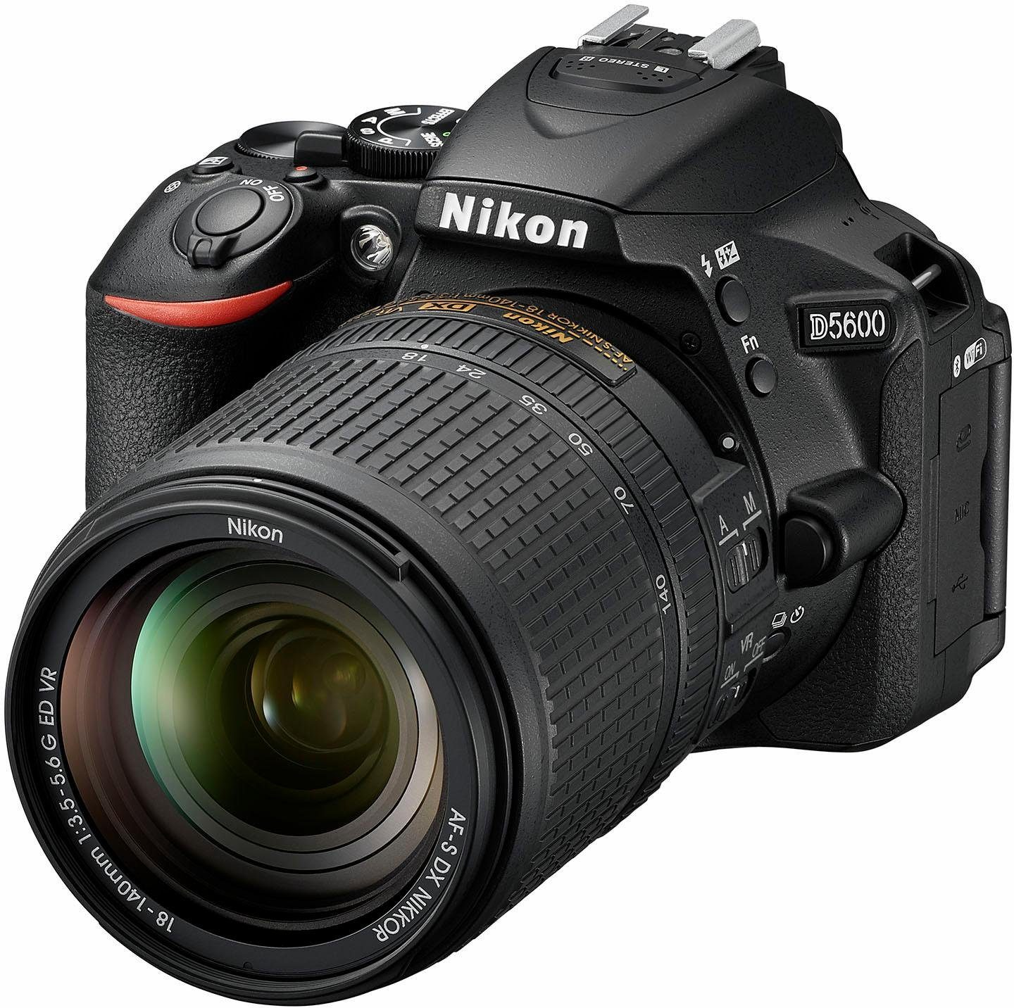 Nikon »D5600 Kit« Spiegelreflexkamera (AF-S DX 18-140 VR, 24,2 MP, Bluetooth, NFC, WLAN (Wi-Fi)
