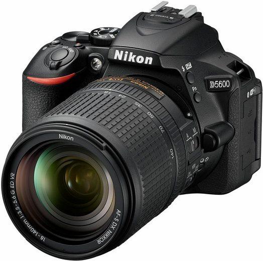 Nikon »D5600« Spiegelreflexkamera (AF-S Nikkor 18-140 mm, Bluetooth, NFC, WLAN (Wi-Fi)