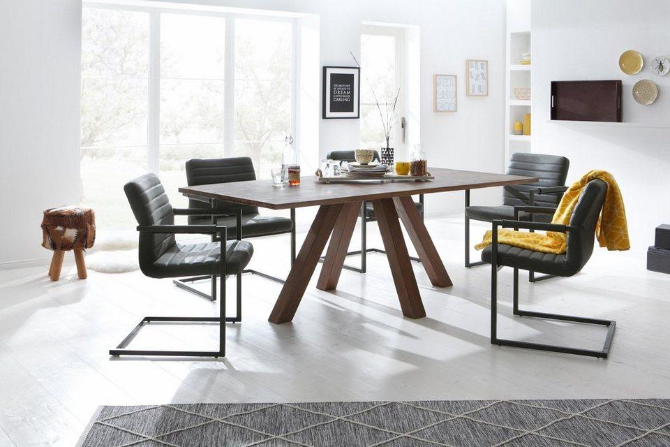 home affaire esstisch monty aus massivem akazienholz. Black Bedroom Furniture Sets. Home Design Ideas
