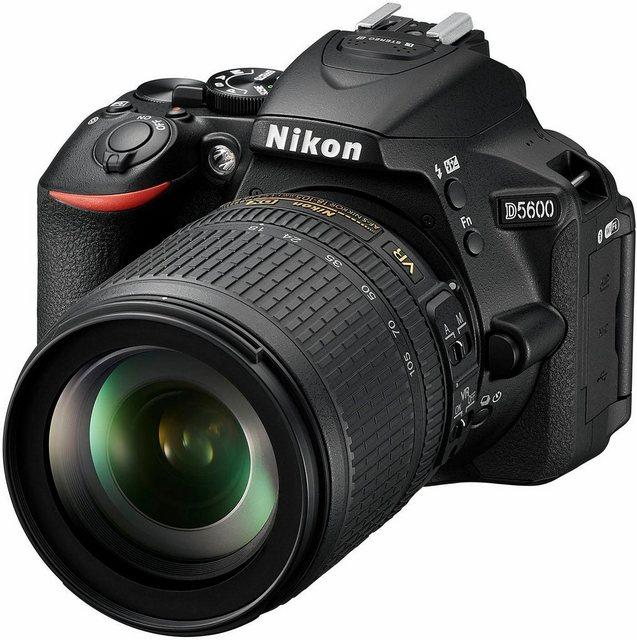 Spiegelreflexkameras - Nikon »D5600 Kit« Spiegelreflexkamera (AF S DX 18 105 VR, 24,2 MP, Bluetooth, NFC, WLAN (Wi Fi)  - Onlineshop OTTO