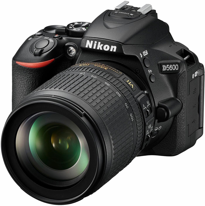 Nikon »D5600 Kit« Spiegelreflexkamera (AF-S DX 18-105 VR, 24,2 MP, Bluetooth, NFC, WLAN (Wi-Fi)