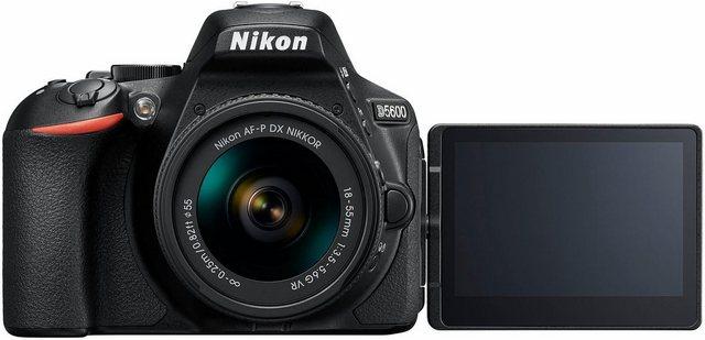 Spiegelreflexkameras - Nikon »D5600 Kit« Spiegelreflexkamera (AF P DX 18 55 VR, 24,2 MP, Bluetooth, NFC, WLAN (Wi Fi)  - Onlineshop OTTO