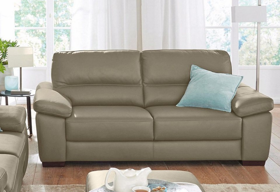 calia italia 2 sitzer ledersofa gaia in zwei lederqualit ten online kaufen otto. Black Bedroom Furniture Sets. Home Design Ideas