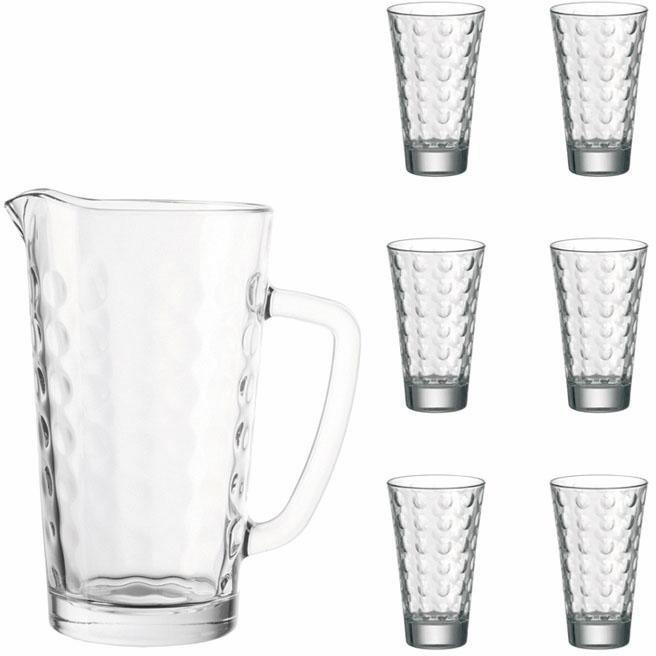 Karaffe und Gläser, Leonardo, »Ciao Optic« (7-tlg.) in klarglas