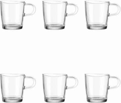 LEONARDO Becher »Loop«, Glas, für Tee und Kaffee, 6-teilig
