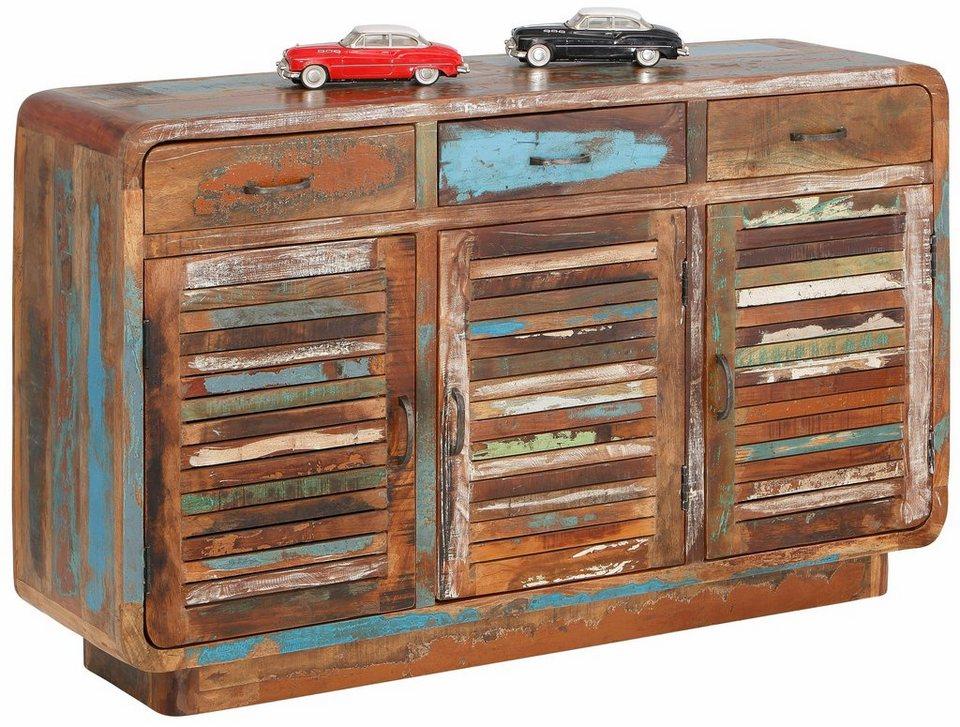 home affaire sideboard rajesh breite 140 cm otto. Black Bedroom Furniture Sets. Home Design Ideas