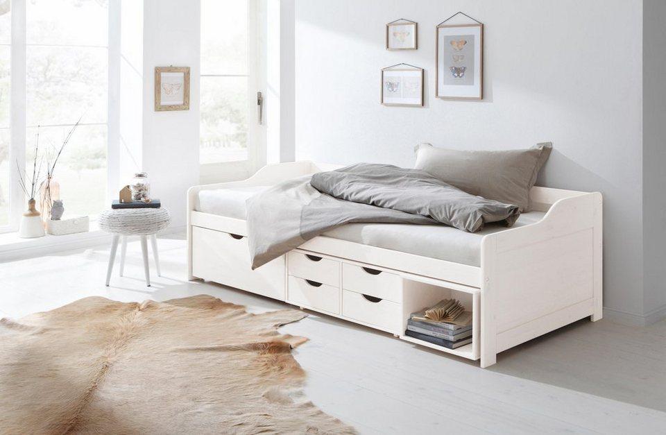 Home affaire Stauraum-Bett »Nils«, mit 5 Schubladen und einem Fach,  Liegefläche: 90/200 cm online kaufen | OTTO