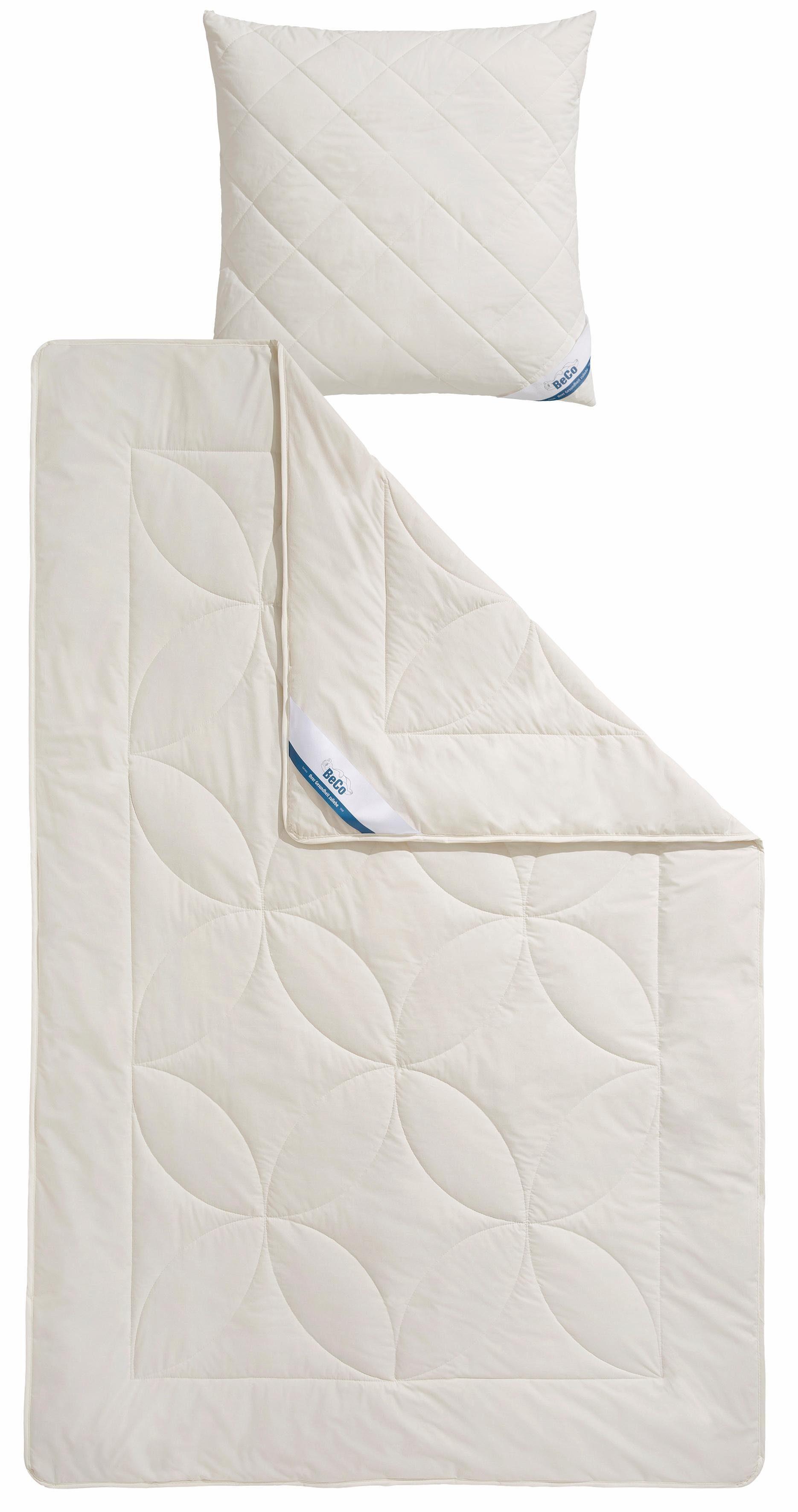 Bettdeckenset, »BeCo Schurwolle 100«, Beco, Leicht - natürliches Bettklima und waschbar bis 30°