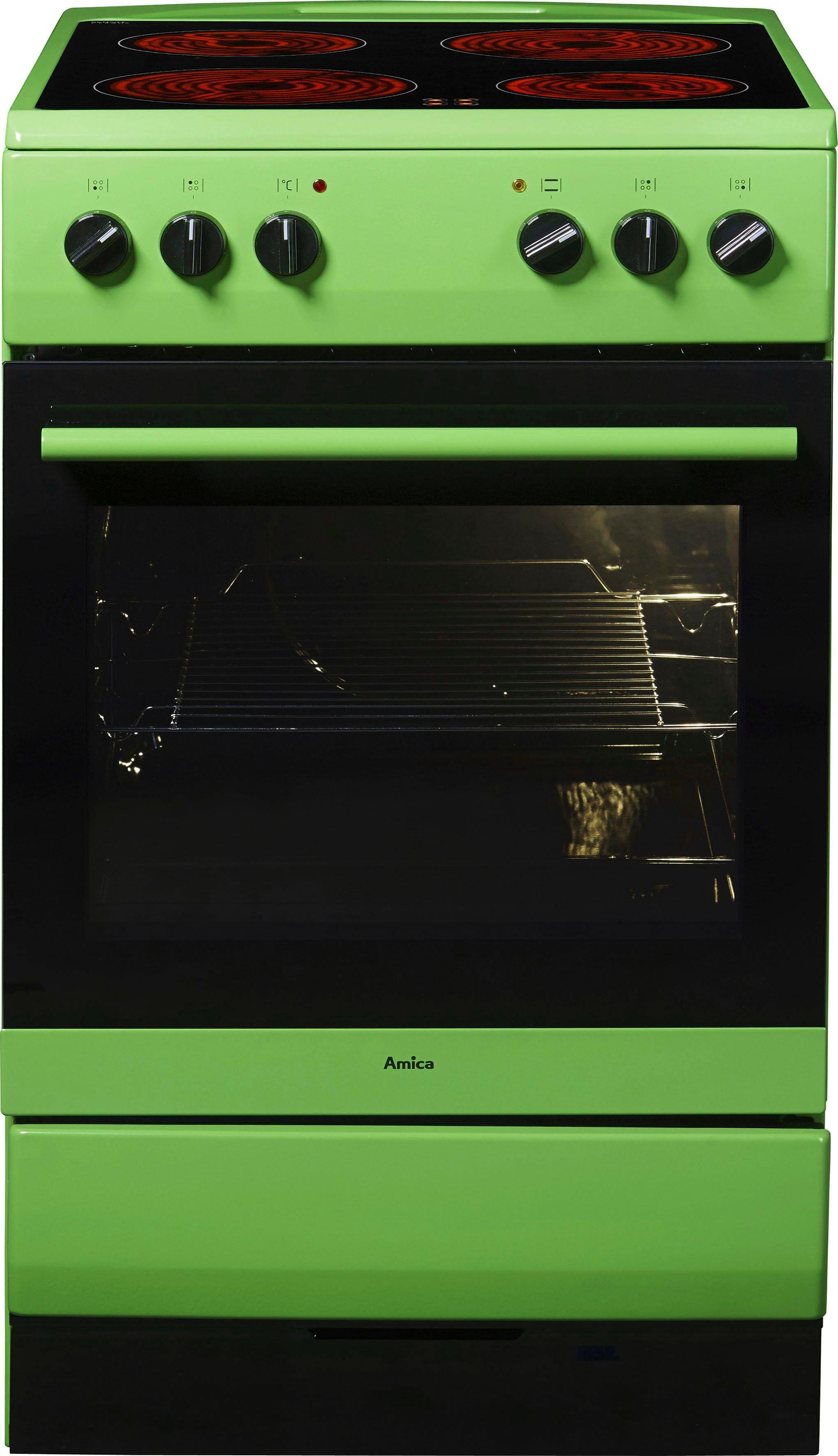 Amica Standherd SHC 11508 G, Energieklasse A, grün