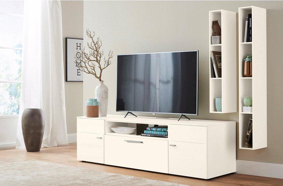 netfurn by gwinner wohnwand anzio lack wei 3 tlg online kaufen otto. Black Bedroom Furniture Sets. Home Design Ideas